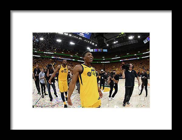 Playoffs Framed Print featuring the photograph Donovan Mitchell by Melissa Majchrzak