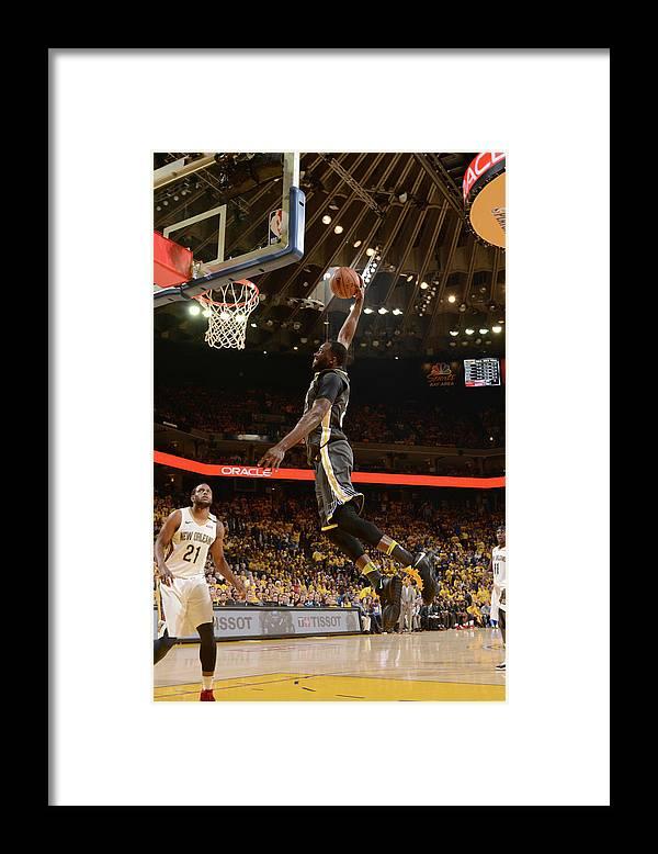 Playoffs Framed Print featuring the photograph Draymond Green by Noah Graham
