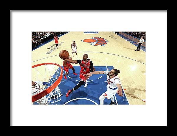 Nba Pro Basketball Framed Print featuring the photograph Dwyane Wade by Nathaniel S. Butler