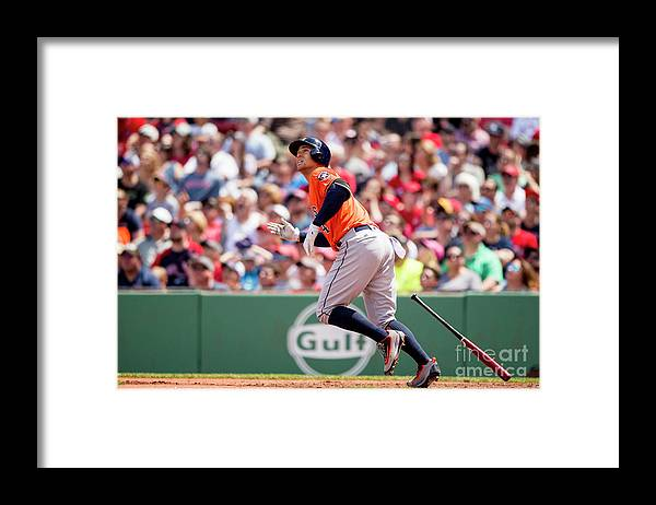 Second Inning Framed Print featuring the photograph George Springer by Billie Weiss/boston Red Sox