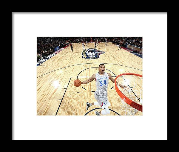 Event Framed Print featuring the photograph Giannis Antetokounmpo by Nathaniel S. Butler