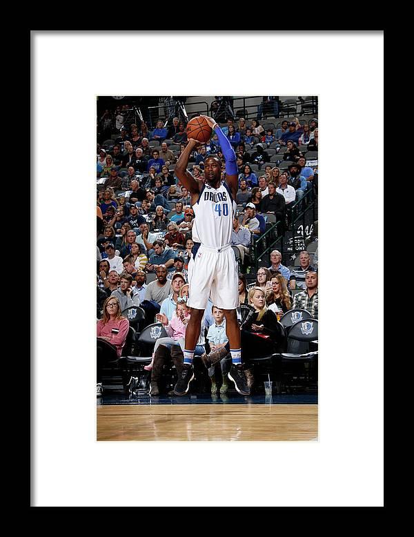 Nba Pro Basketball Framed Print featuring the photograph Harrison Barnes by Glenn James
