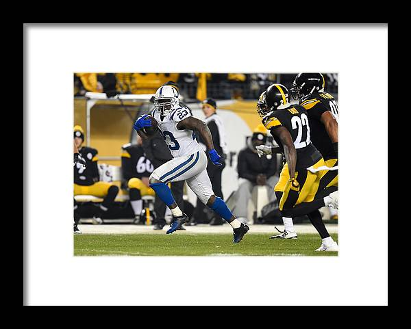 People Framed Print featuring the photograph Indianapolis Colts v Pittsburgh Steelers by Joe Sargent