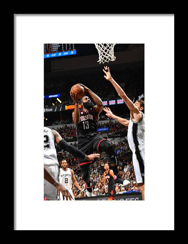 Playoffs Framed Print featuring the photograph James Harden by Jesse D. Garrabrant