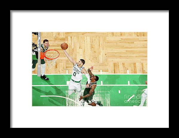 Playoffs Framed Print featuring the photograph Jayson Tatum by Nathaniel S. Butler