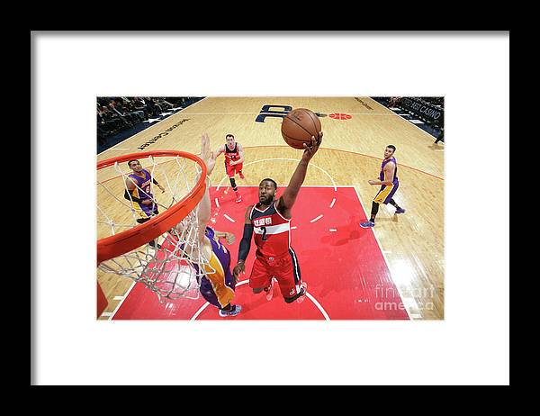 Nba Pro Basketball Framed Print featuring the photograph John Wall by Ned Dishman