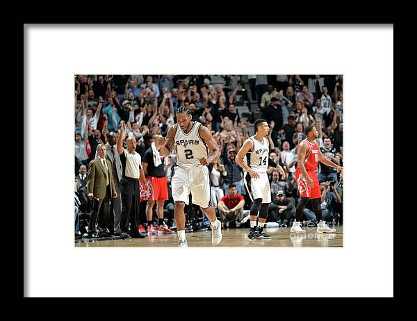 Nba Pro Basketball Framed Print featuring the photograph Kawhi Leonard by Mark Sobhani