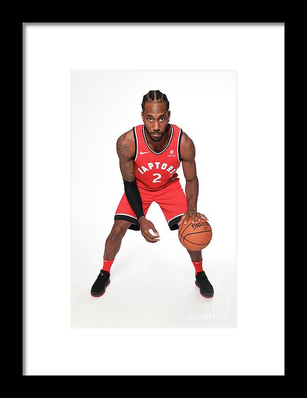 Media Day Framed Print featuring the photograph Kawhi Leonard by Ron Turenne