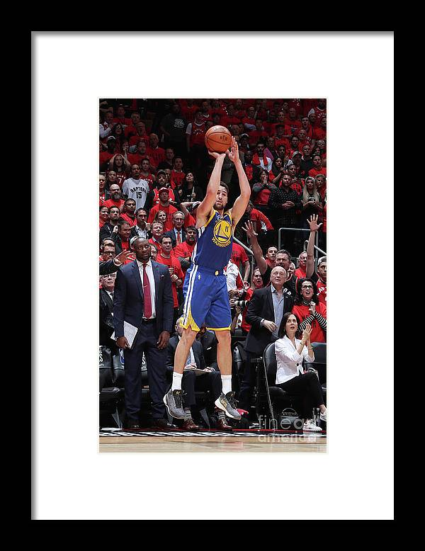 Playoffs Framed Print featuring the photograph Klay Thompson by Nathaniel S. Butler