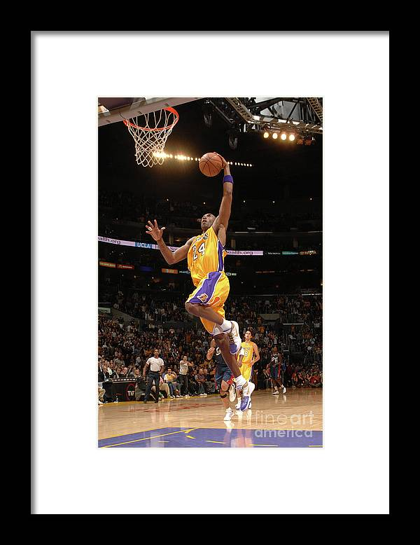 Nba Pro Basketball Framed Print featuring the photograph Kobe Bryant by Noah Graham