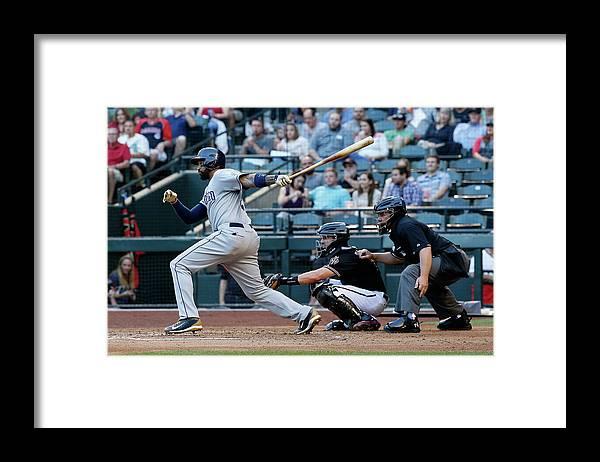 People Framed Print featuring the photograph Matt Kemp by Christian Petersen