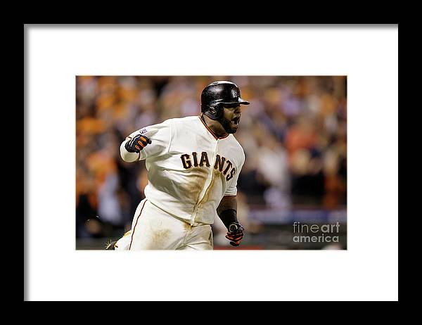 Playoffs Framed Print featuring the photograph Pablo Sandoval by Ezra Shaw