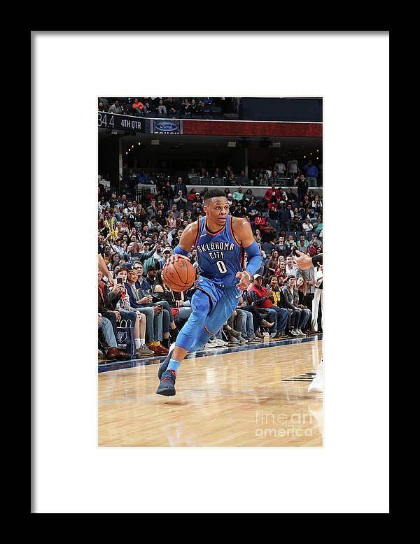Nba Pro Basketball Framed Print featuring the photograph Russell Westbrook by Joe Murphy