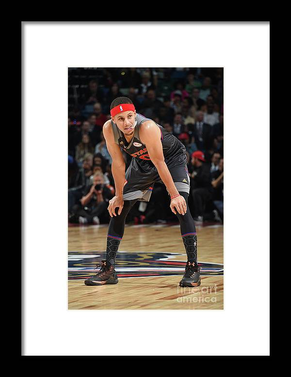 Event Framed Print featuring the photograph Stephen Curry by Andrew D. Bernstein