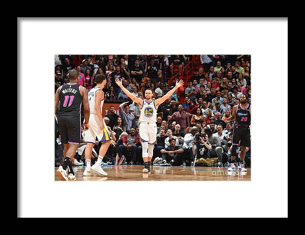 Nba Pro Basketball Framed Print featuring the photograph Stephen Curry by Jesse D. Garrabrant