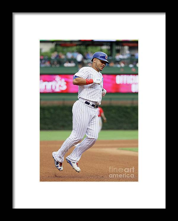 People Framed Print featuring the photograph Willson Contreras by Jonathan Daniel