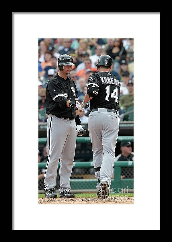 People Framed Print featuring the photograph A. J. Pierzynski by Leon Halip