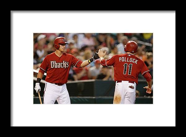 American League Baseball Framed Print featuring the photograph A. J. Pollock by Christian Petersen