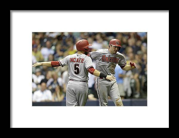 Ninth Inning Framed Print featuring the photograph A. J. Pollock by Mike Mcginnis