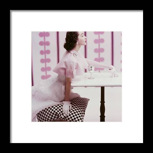 Fashion Framed Print featuring the photograph A Portrait of Dovima in Tina Leser by Richard Rutledge