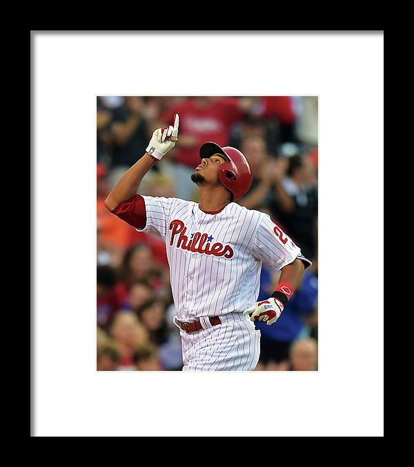 American League Baseball Framed Print featuring the photograph Aaron Altherr by Drew Hallowell