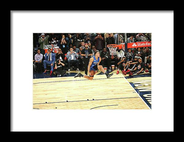 Event Framed Print featuring the photograph Aaron Gordon by Bruce Yeung