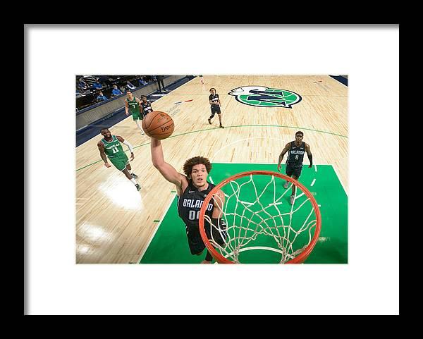 Nba Pro Basketball Framed Print featuring the photograph Aaron Gordon by Glenn James