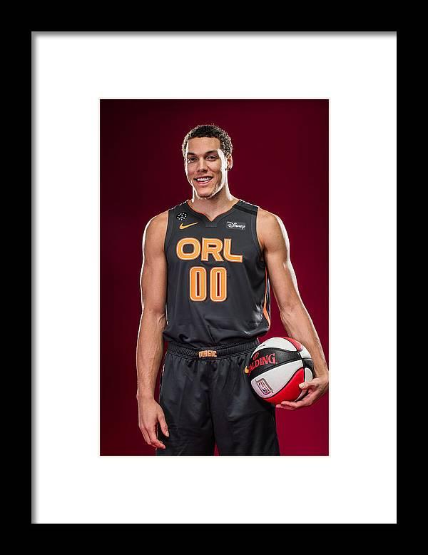 Nba Pro Basketball Framed Print featuring the photograph Aaron Gordon by Michael J. LeBrecht II