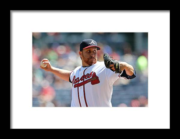 Atlanta Framed Print featuring the photograph Aaron Harang by Kevin C. Cox