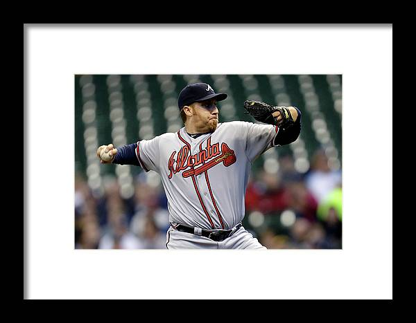 Aaron Harang Framed Print featuring the photograph Aaron Harang by Mike Mcginnis