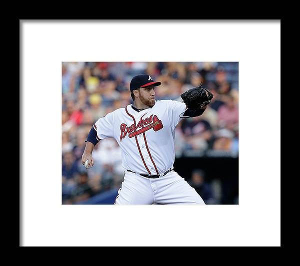 Atlanta Framed Print featuring the photograph Aaron Harang by Mike Zarrilli
