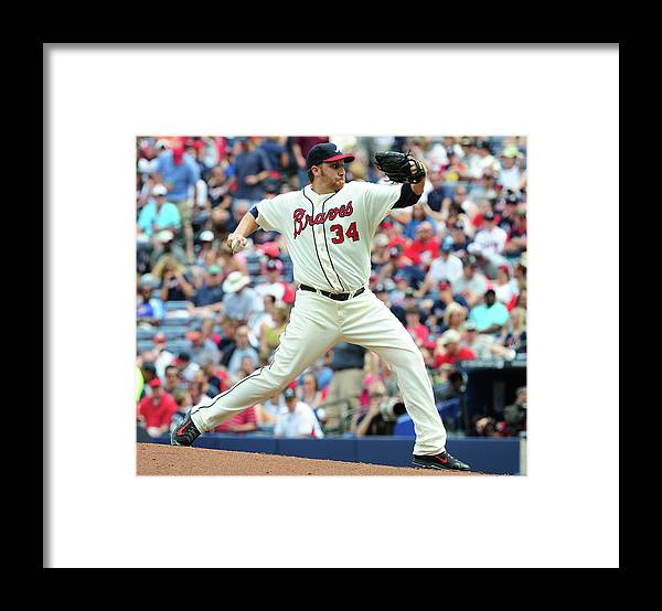 Atlanta Framed Print featuring the photograph Aaron Harang by Scott Cunningham