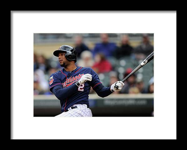 American League Baseball Framed Print featuring the photograph Aaron Hicks by Hannah Foslien