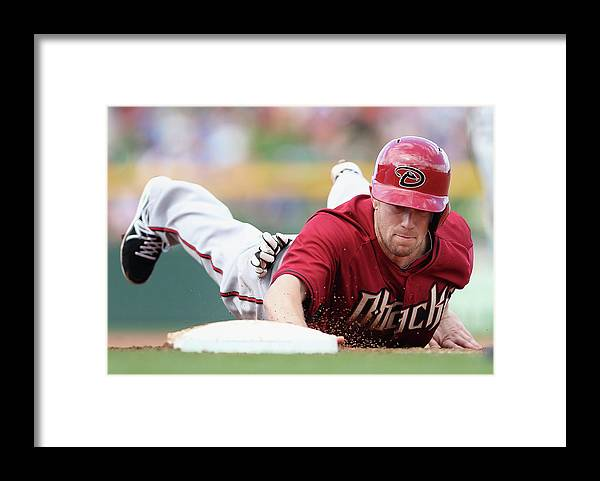 Motion Framed Print featuring the photograph Aaron Hill by Christian Petersen
