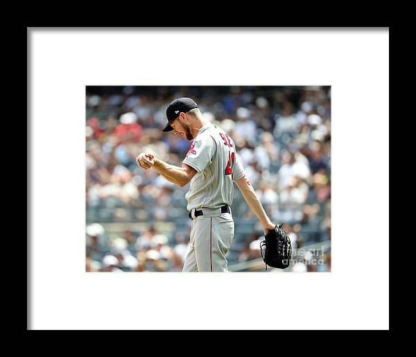 Three Quarter Length Framed Print featuring the photograph Aaron Judge And Chris Sale by Elsa
