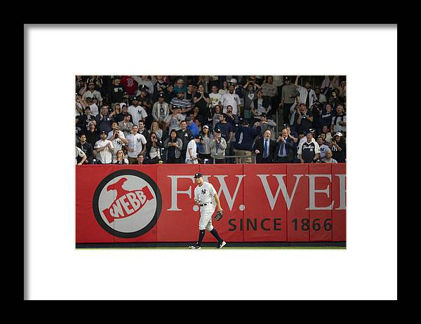 People Framed Print featuring the photograph Aaron Judge by Billie Weiss/Boston Red Sox