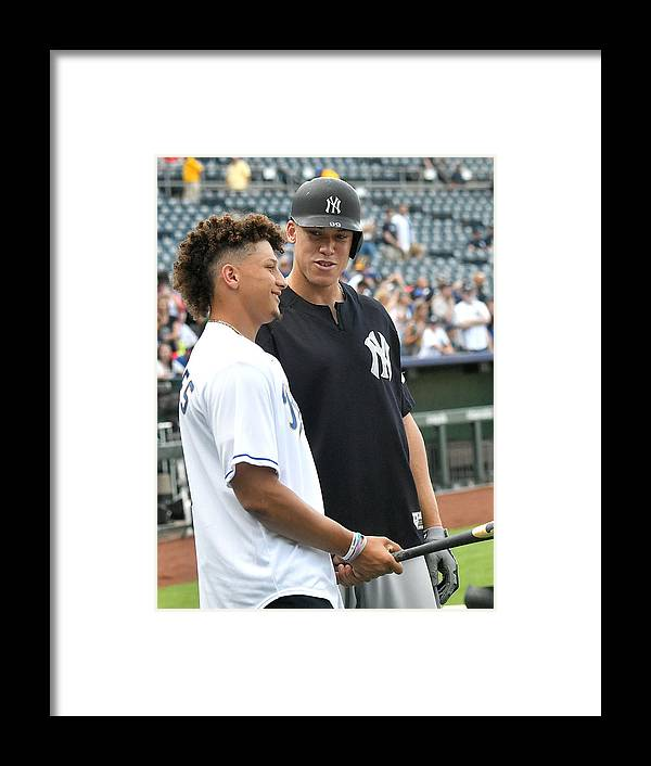 American League Baseball Framed Print featuring the photograph Aaron Judge by Icon Sportswire
