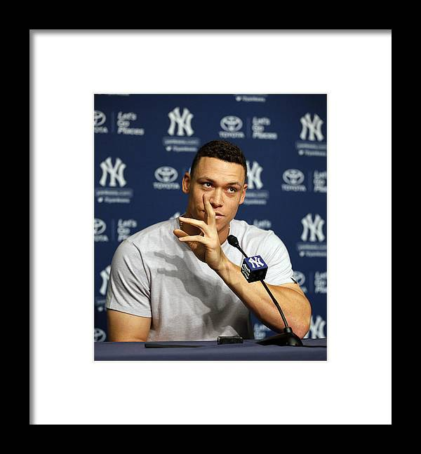 People Framed Print featuring the photograph Aaron Judge by Paul Bereswill