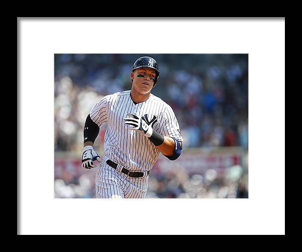 Second Inning Framed Print featuring the photograph Aaron Judge by Rich Schultz