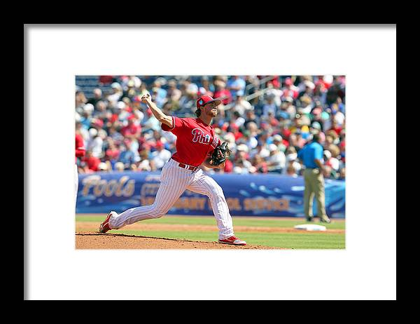 Aaron Nola Framed Print featuring the photograph Aaron Nola by Icon Sportswire