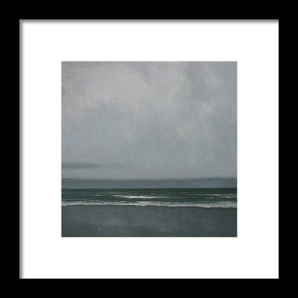 Framed Print featuring the painting Abbotts Lagoon by Mary Jo Van Dell