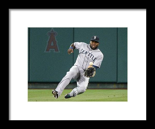 American League Baseball Framed Print featuring the photograph Abraham Almonte and David Freese by Harry How