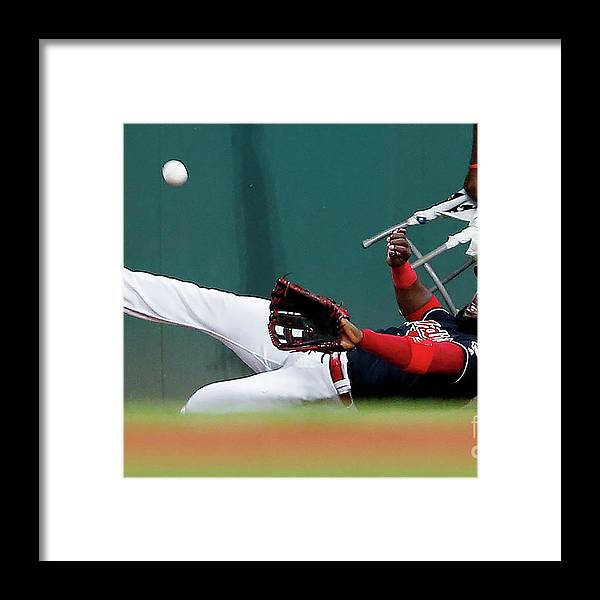 People Framed Print featuring the photograph Abraham Almonte and Eric Hosmer by Ron Schwane