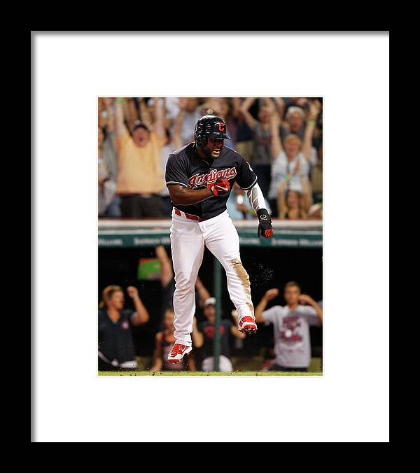 Ninth Inning Framed Print featuring the photograph Abraham Almonte And Tyler Naquin by David Maxwell