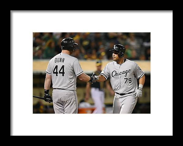 Ninth Inning Framed Print featuring the photograph Adam Dunn by Thearon W. Henderson