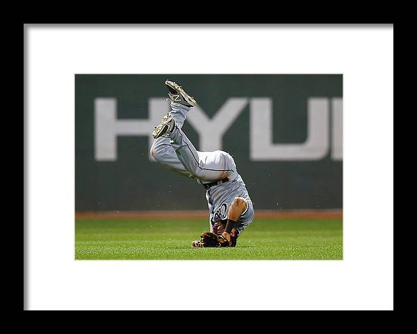 American League Baseball Framed Print featuring the photograph Adam Eaton by Jared Wickerham