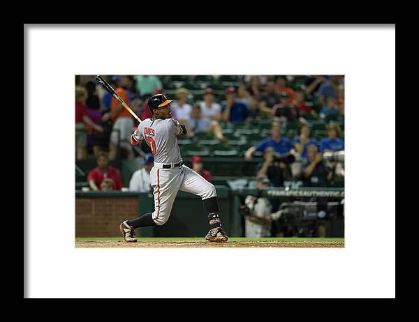 American League Baseball Framed Print featuring the photograph Adam Jones by Cooper Neill