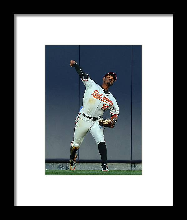 American League Baseball Framed Print featuring the photograph Adam Jones by Elsa