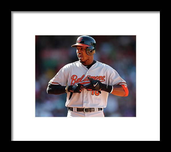 American League Baseball Framed Print featuring the photograph Adam Jones by Jim Rogash