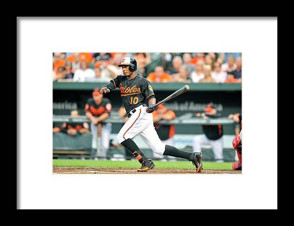 American League Baseball Framed Print featuring the photograph Adam Jones by Mitchell Layton